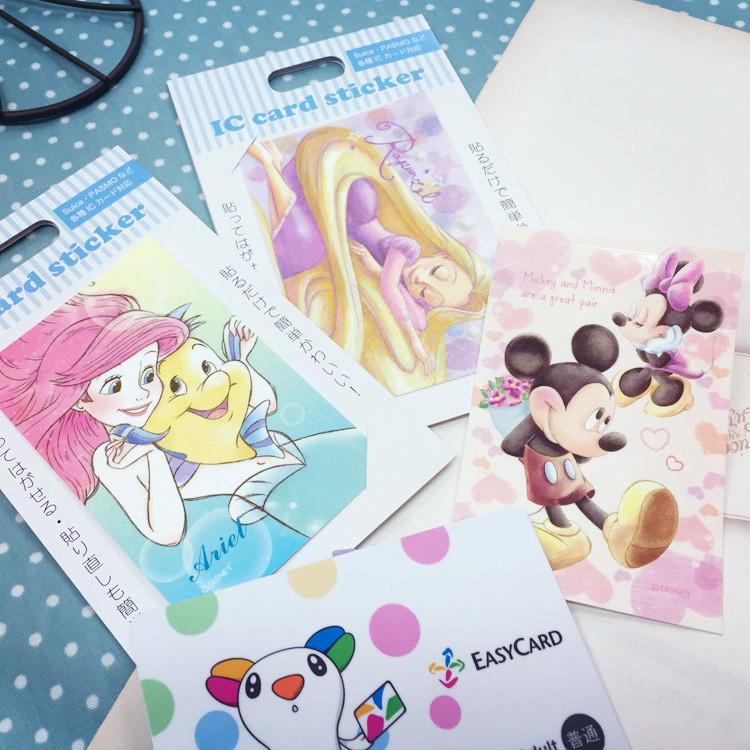 PGS7 日本迪士尼系列貼紙 - 日本 迪士尼 票卡貼紙 悠遊卡貼 米奇米妮 愛麗兒 樂佩