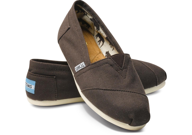 【TOMS】可可色素面基本款休閒鞋  Chocolate Canvas Women's Classics