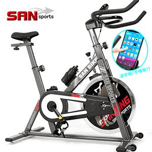 【SAN SPORTS 山司伯特】黑爵士13KG飛輪健身車(3倍強度.13公斤飛輪車.室內腳踏車.便宜.推薦) C165-013