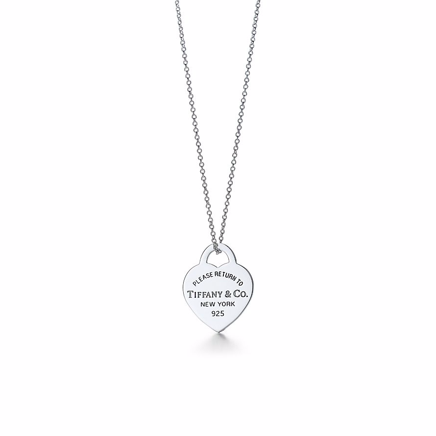 美國百分百【全新真品】Tiffany & Co. 項鍊 純銀 RETURN TO TIFFANY 愛心 銀牌 專櫃 情人節 保證正品