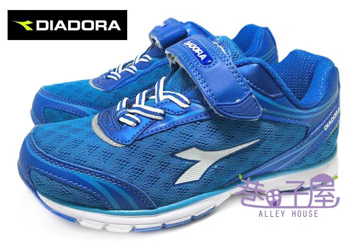 【巷子屋】義大利國寶鞋-DIADORA迪亞多納 男童四大機能赤足感寬楦輕量運動慢跑鞋 [8796] 藍 超值價$398