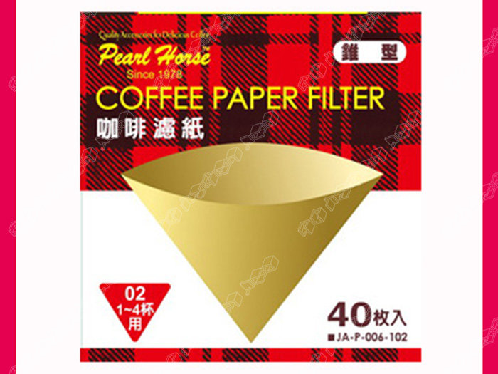 快樂屋♪《日本寶馬牌》 圓錐型濾紙 02 1-4杯 40枚入 (椎型.圓椎形.hario.tiamo)