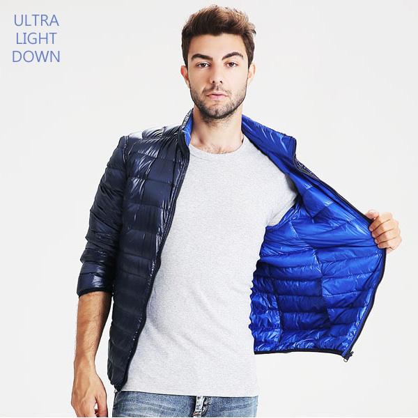 特級極輕立領羽絨外套雙面穿男款 90%白鴨絨 保暖 預購【23-25-8135】ibella 艾貝拉