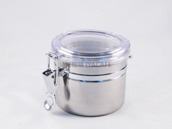《愛鴨咖啡》不銹鋼密封罐 咖啡豆 儲豆罐 食品密封罐 12.5x7.5cm