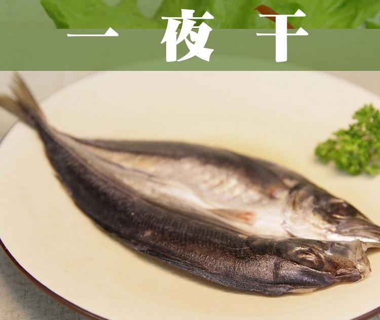 《鮮樂GO》一夜干(竹筴魚) 210g/隻 / 源自日本北海道保存魚貨技術,燒烤店★經典★必備食材,下酒的好良伴!