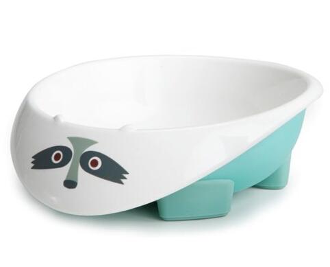 美國MyNatural 餐具系列-Light Blue Raccoon冰雪藍浣熊餐碗