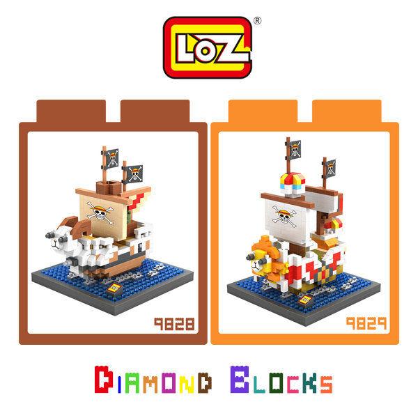 【愛瘋潮】LOZ 迷你鑽石小積木 海賊王/航海王系列 One Piece 海賊船 千陽號 黃金梅利號
