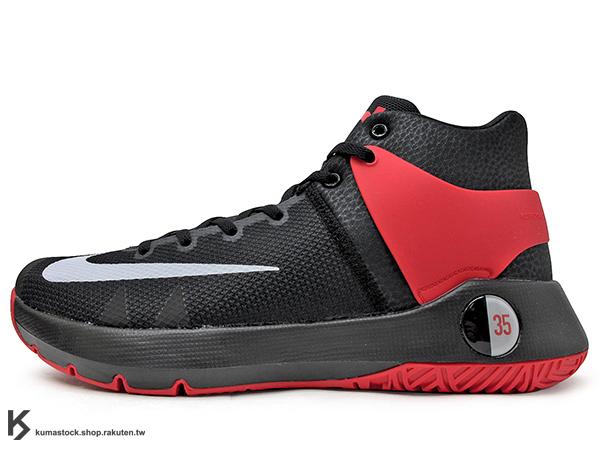 2016 Kevin Durant 最新代言 平價戶外專用 子系列鞋款 NIKE KD TREY 5 IV 4 EP 高筒 黑紅 HYPERFUSE 科技鞋面 前 ZOOM AIR 氣墊 XDR 耐磨橡膠外底 雷帝 代言簽名鞋款 勇士隊 (844573-600) 1116