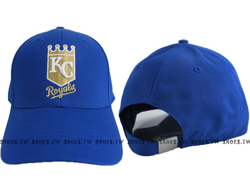 Shoestw【5562008-530】MLB 棒球帽 調整帽 老帽 皇家隊 寶藍 金標 凸繡