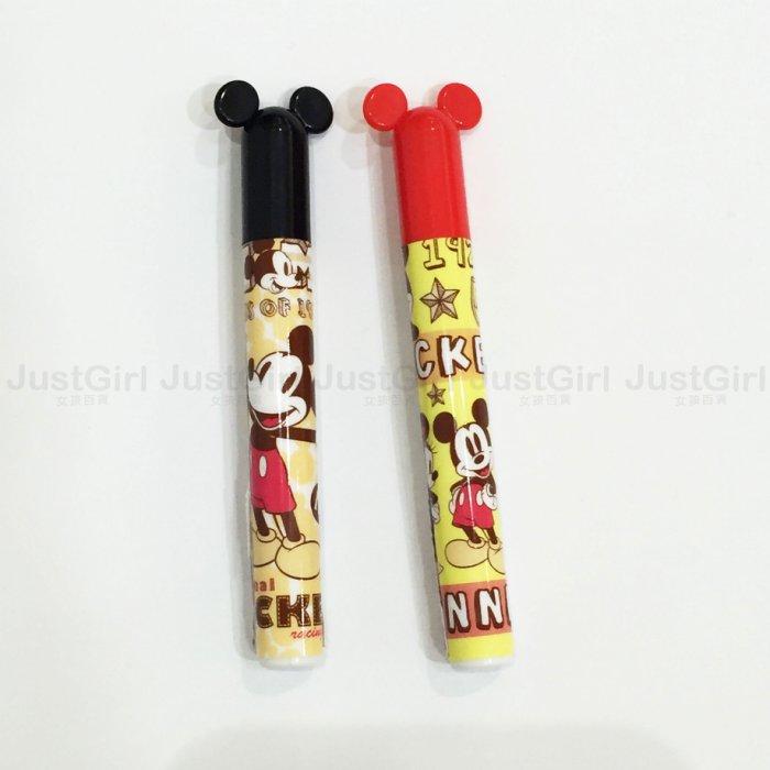 迪士尼 古典 米奇 筆芯 耳朵造型 HB筆芯 20枝 黑 紅 文具 正版日本授權 * JustGirl *