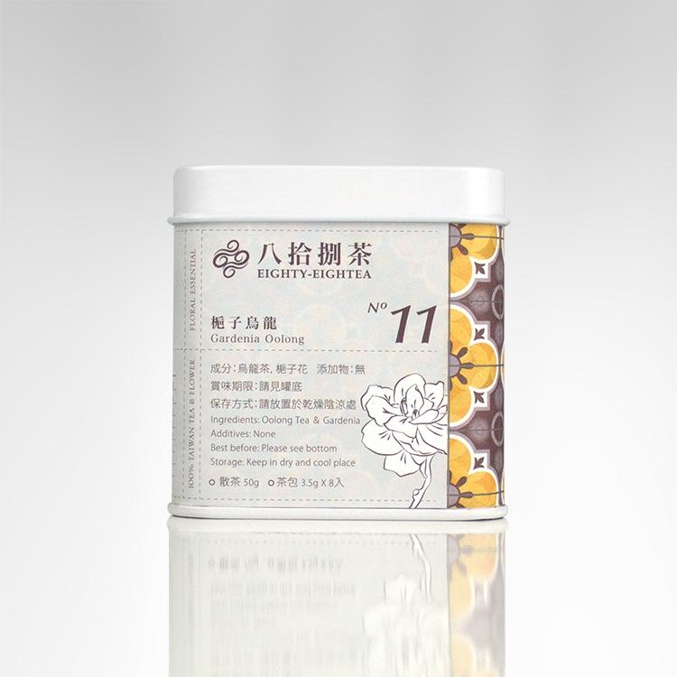 【八拾捌茶 窨製花茶】梔子烏龍 50g罐裝