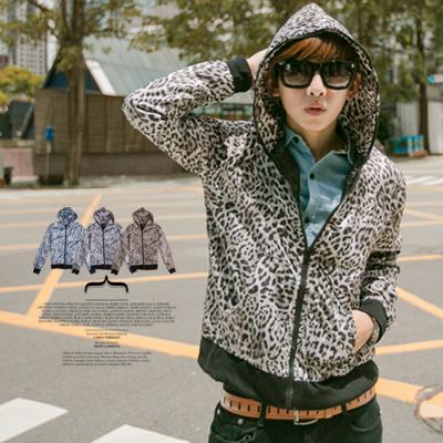 柒零年代 Fall【N8138J】韓風秋冬視覺GD風格搶眼豹紋個性風衣外套(MA81012)
