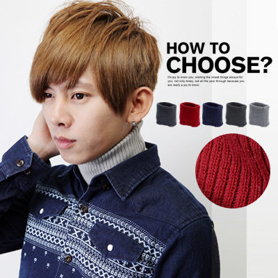 柒零年代For Now【N8354J】冬季嚴選造型保暖百搭款素色針織高領套頭圍脖