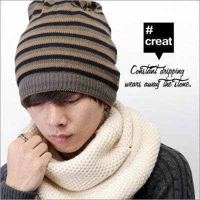 ∥柒零年代∥Unique【N7785J】韓系街頭型男帥氣搭配條紋素面雙面用2way毛帽/圍巾(EZ3003)