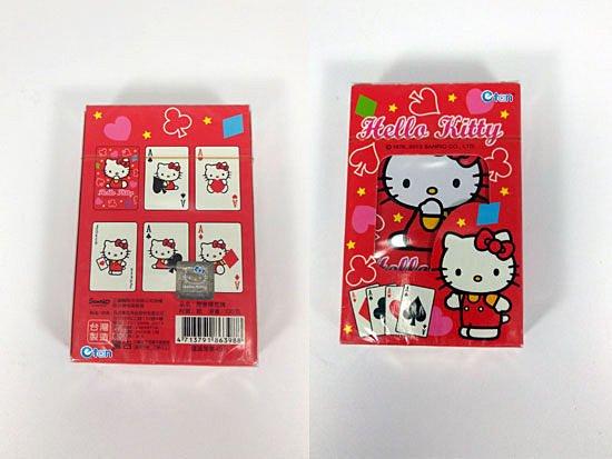 【真愛日本】13032300001 KT開窗撲克牌 三麗鷗 Hello Kitty 凱蒂貓 紙牌 益智遊戲 正品