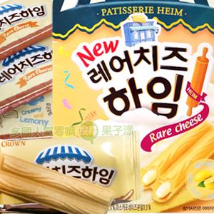 韓國CROWN 檸檬乳酪奶油威化酥 脆餅 [KR219]