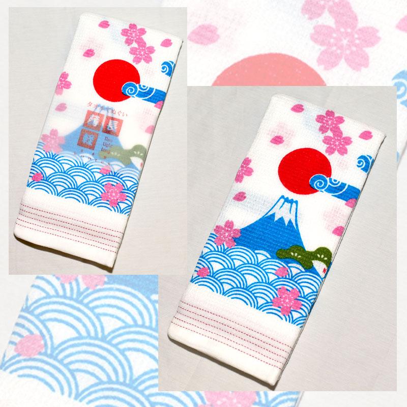 日本富士山 毛巾浴巾圍巾頭巾多功能  薄輕長 100%綿 也可當裝飾 Kontex日本製