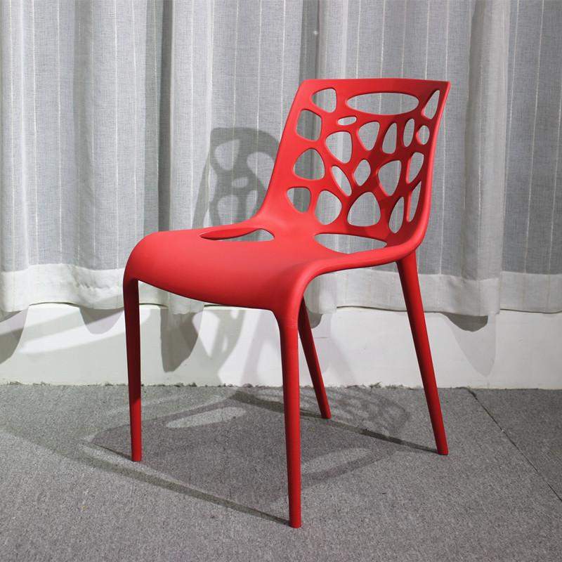 【新生活家具】 休閒椅 洞洞椅 餐椅 北歐風 紅色 造型椅 簍空泡泡椅 洽談椅 蒂爾 非 H&D ikea 宜家