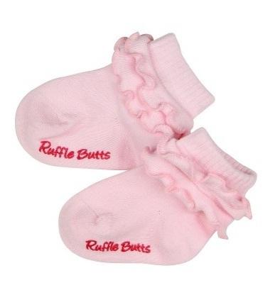 【HELLA 媽咪寶貝】美國 RuffleButts 小公主甜美荷葉邊短襪_甜美粉