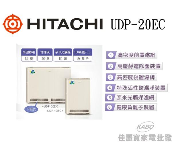 【佳麗寶】-日立日立落地型下吸式空氣清淨機UDP-20EC