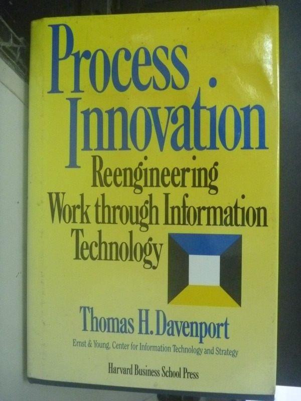 【書寶二手書T5/大學商學_ZCO】Process Innovation: Reengineering