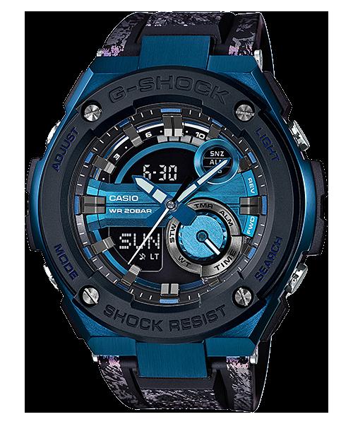 國外代購 CASIO G-SHOCK GST-200CP-2A 雙顯大錶面  運動防水手錶腕錶電子錶男女錶 極限藍