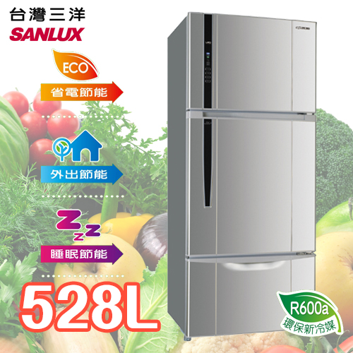 SANLUX SANYO 台灣三洋 528L三門直流變頻冰箱 SR-B528CV