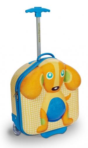 【淘氣寶寶】瑞士【Oops】歐歐皮 烏噗司-快樂行李箱(小狗)【歐盟CE、德國萊因TUV 、美國材料協會ASTM認證】
