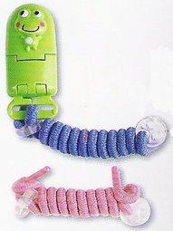 【淘氣寶寶】DOOBY 大眼蛙 伸縮 卡通奶嘴鏈.奶嘴夾.奶嘴鍊