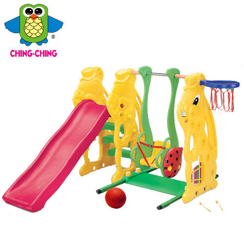 【淘氣寶寶】【CHING-CHING親親】小白兔溜滑梯+鞦韆『SL-08 』