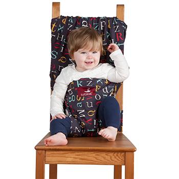 【淘氣寶寶】英國 Totseat 攜帶型嬰兒安全座椅套/餐椅套/餐椅安全背帶-英文字母【公司貨●原廠購買有保障】