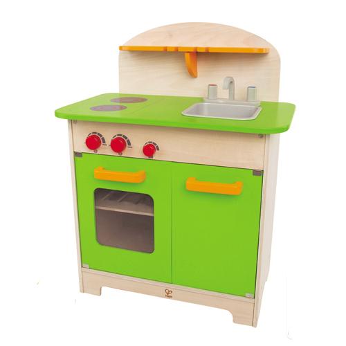 【淘氣寶寶】德國 Hape 愛傑卡 大型廚具台(綠色)