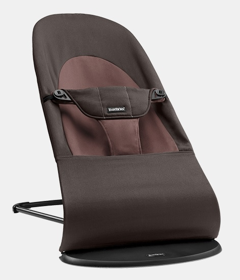 【淘氣寶寶】BabyBjorn Bouncer Balance Soft 柔軟彈彈椅-咖啡【彈彈椅自然擺動不需使用電池/符合人體工學】【正品】
