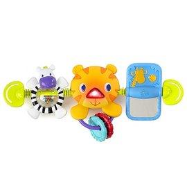 【淘氣寶寶】美國 Kids II Bright 青蛙鏡子提籃響鈴音樂玩具/汽座提籃專用 0+
