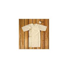 【淘氣寶寶】 ⊙藍天畫布⊙100%有機棉 極細緻40支紗精梳棉(加長型)紗布衣/肚衣,無漂無染,台灣織造