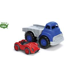 【淘氣寶寶】美國greentoys感統玩具-大榔頭拖板車Flatbed Truck【檢驗符合最高安全標準/沒有外部塗料,保證無毒】