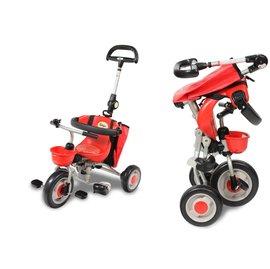 【淘氣寶寶】2015年最新 日本IDES 三輪車第三代摺疊三輪背包車(紅)【贈純植物精油防蚊液 60ml】