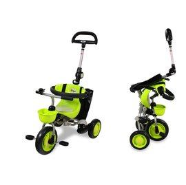 【淘氣寶寶】日本 IDES 三輪車第三代摺疊三輪背包車(綠)【贈純植物精油防蚊液 60ml】