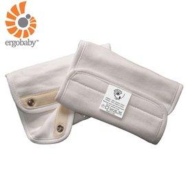 【淘氣寶寶】【總代理公司貨】美國 Ergo Baby ergobaby Teething Pad 爾哥寶寶背巾用 嬰幼兒吸吮墊/口水巾(100%純棉棉材質)有機款米白