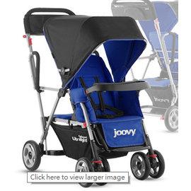 【淘氣寶寶】2015年新款 美國Joovy Caboose Ultralight 雙人手推車/兄弟車【藍色】【公司貨保固】