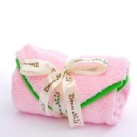 【淘氣寶寶】加拿大 Bonne Nuit Baby 洞洞澎澎巾-粉色 (0/5yrs) 106cm(W)×103cm(H)