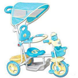 【淘氣寶寶】【CHING-CHING親親】快樂蛙三輪車-藍 XG3105GP-018
