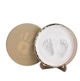 【淘氣寶寶】比利時Baby Art 手腳印圓盒(卡奇) 手印/腳印紀念盒 (手模/腳模/手腳模) ※卡奇色