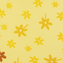 【淘氣寶寶】【德國 Theraline 哺乳育嬰月亮枕枕套】孕婦側睡托腹枕/孕婦專用抱枕/餵乳枕(Yellow Flower) 專用枕套