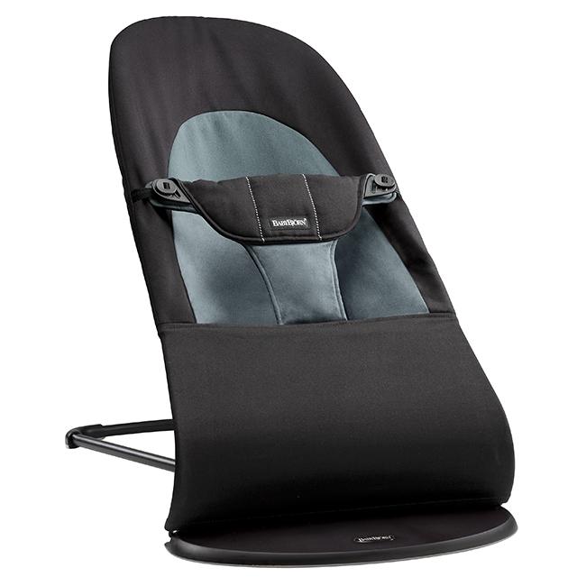 【淘氣寶寶】BabyBjorn Bouncer Balance Soft 柔軟彈彈椅-黑灰【彈椅自然擺動不需使用電池/符合人體工學】【正品】