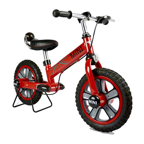 【淘氣寶寶】英國授權Mini Cooper 兒童滑步平衡車12吋(紅)(腳架須另購)【贈:天然草本抗菌洗手乳250ml/原價399元】