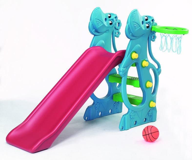 【淘氣寶寶】【CHING-CHING親親】河馬溜滑梯(二次料/藍) 『SL-12R p05』
