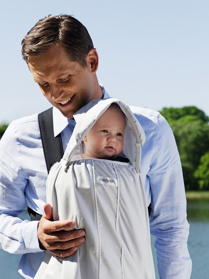 【淘氣寶寶】Baby Bjorn Sun Cover for Baby Carrier White (抗UV罩)(抱嬰袋遮陽罩)