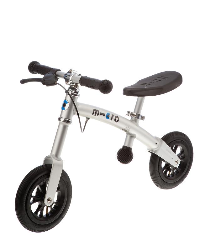 【淘氣寶寶】Micro G-bike+ PU輪 (GB0006)【 有剎車, 可調鞍座】