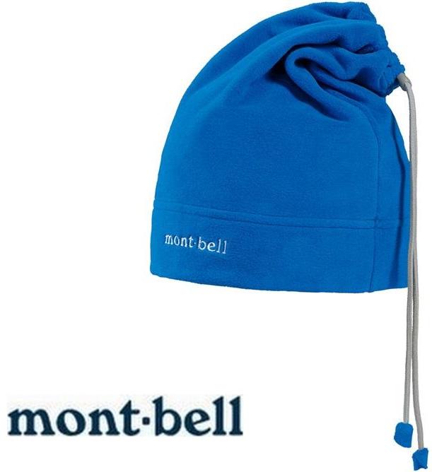 Mont-Bell 刷毛頸圍/保暖帽/登山毛帽/滑雪/旅遊 脖圍毛帽兩用 1108140 PRBL藍